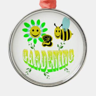 蜂の園芸に幸せ メタルオーナメント