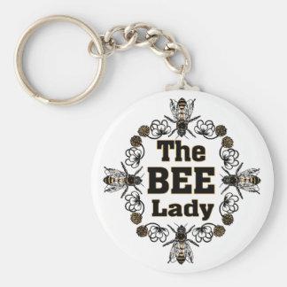 蜂の女性 キーホルダー