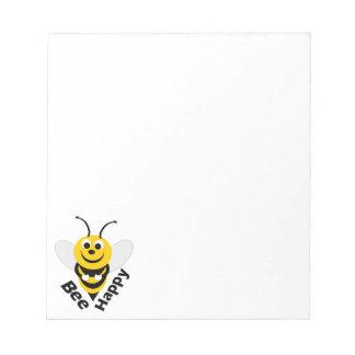 蜂の幸せな小さい ノートパッド