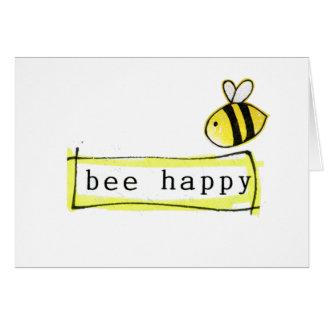 蜂の幸せな気持ち グリーティングカード