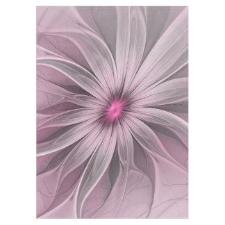 蜂の抽象芸術のフラクタルの芸術を待っているピンクの花 テーブルクロス