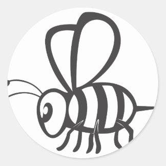 蜂の昆虫 ラウンドシール