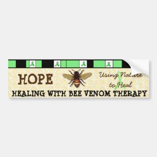 蜂の毒液のセラピーのバンパーステッカーとの治療 バンパーステッカー