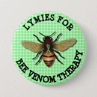 蜂の毒液のセラピーボタンのためのLymies 缶バッジ