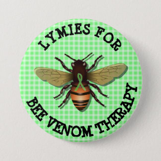 蜂の毒液のセラピーボタンのためのLymies 7.6cm 丸型バッジ