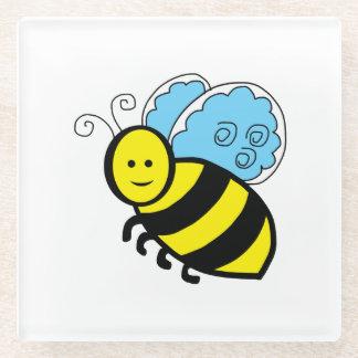 蜂の漫画 ガラスコースター