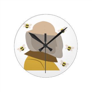 蜂の看守 ラウンド壁時計
