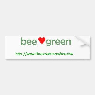 蜂の緑のバンパーステッカー バンパーステッカー