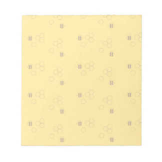 蜂の蜜蜂の巣パターン ノートパッド