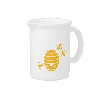 蜂の蜜蜂の巣 ピッチャー