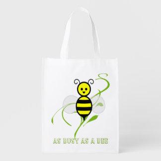 蜂の買い物袋忙しい エコバッグ