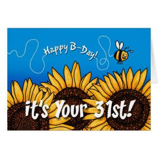 蜂の道のヒマワリ- 31歳 カード