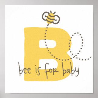 蜂はベビーポスター-ベビー部屋の装飾のためです ポスター
