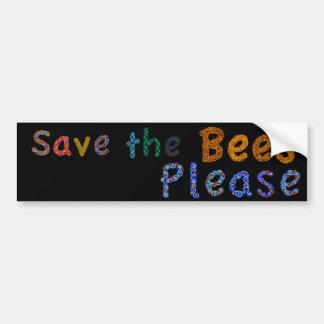 蜂を喜ばしますカジュアルな色のバンパーステッカーを救って下さい バンパーステッカー