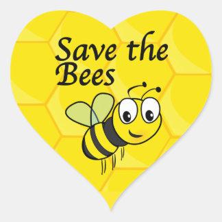 蜂を救って下さい ハートシール