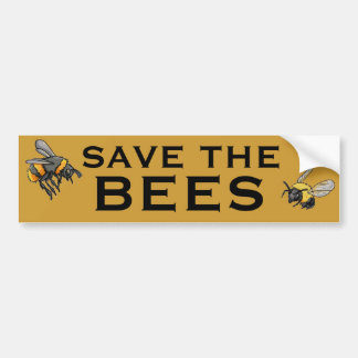 蜂を救って下さい バンパーステッカー