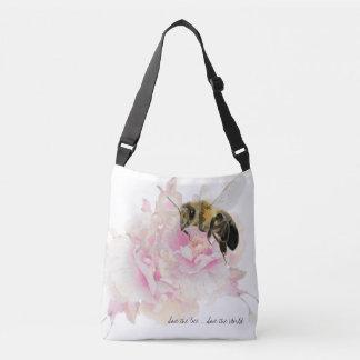 蜂を救って下さい! 世界を救って下さい! かわいらしい蜂 クロスボディバッグ