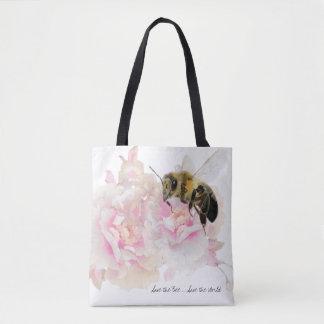 蜂を救って下さい! 世界を救って下さい! かわいらしい蜂 トートバッグ