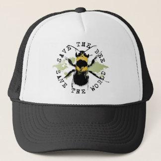 蜂を救って下さい! 世界を救って下さい! 円形浮彫りのコレクション キャップ