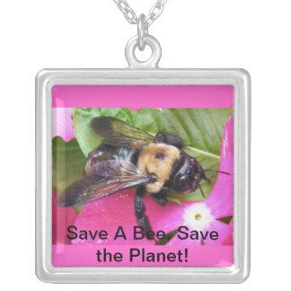 蜂を救って下さい、惑星を救って下さい! ネックレス