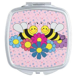 蜂及び花のデザインのイラストレーション