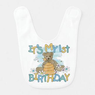 蜂蜜くまの第1誕生日のよだれかけ ベビービブ