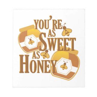 蜂蜜として菓子 ノートパッド