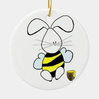 蜂蜜のバニーのオーナメント セラミックオーナメント