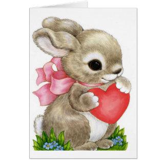蜂蜜のバニーのバレンタイン-挨拶状 カード