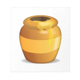 蜂蜜のポット- Emoji ノートパッド