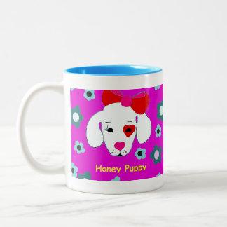 蜂蜜の子犬のマグ ツートーンマグカップ