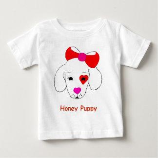 蜂蜜の子犬の新しい有名ブランド商品 ベビーTシャツ