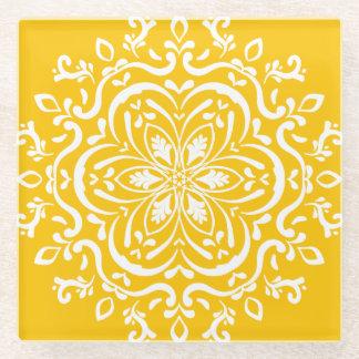蜂蜜の曼荼羅 ガラスコースター