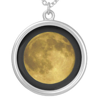 蜂蜜の月 シルバープレートネックレス