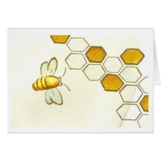 蜂蜜の櫛の挨拶状 カード