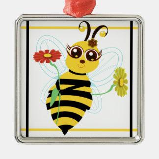 蜂蜜の漫画の蜂のSqrsのオーナメント メタルオーナメント