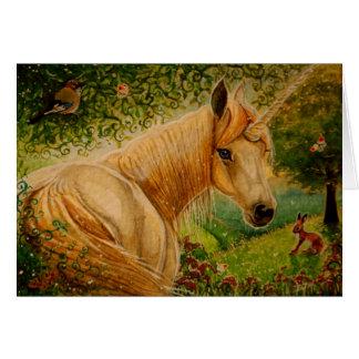 蜂蜜の草原-ユニコーンNotecard カード