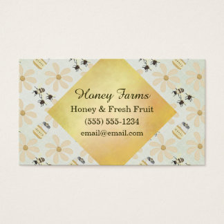 蜂蜜の蜂および花 名刺