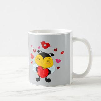 蜂蜜の蜂のキス-マグ コーヒーマグカップ