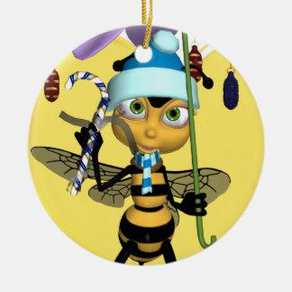 蜂蜜の蜂のクリスマスのオーナメント-かわいい蜂蜜の蜂 セラミックオーナメント