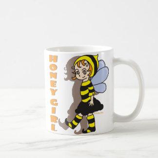 蜂蜜の蜂の女の子のマグ コーヒーマグカップ