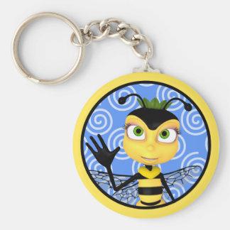 蜂蜜の蜂の漫画Keychain キーホルダー