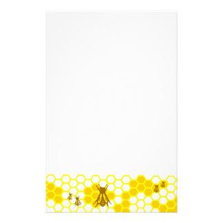 蜂蜜の蜂の黄色の蜜蜂の巣のUnlined文房具 便箋
