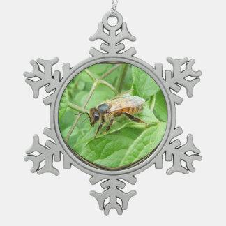 蜂蜜の蜂の~のピューターのオーナメント スノーフレークピューターオーナメント