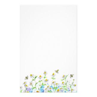 蜂蜜の蜂のChamomileの花園の芸術 便箋