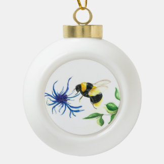 蜂蜜の蜂 セラミックボールオーナメント