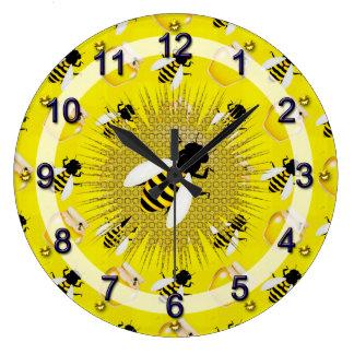蜂蜜の蜂 ラージ壁時計