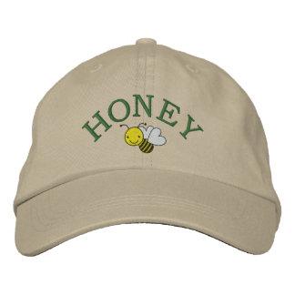 蜂蜜の蜂-蜂を救って下さい-女王バチの帽子- SRF 刺繍入りキャップ