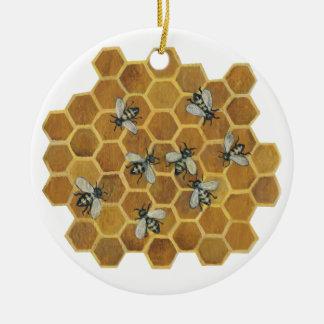 蜂蜜の蜂IIのオーナメント セラミックオーナメント