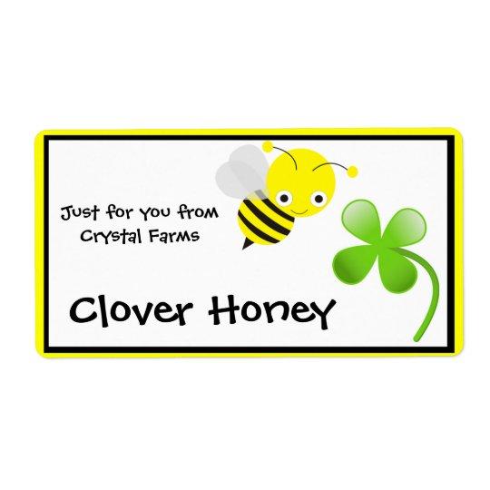 蜂蜜の食糧ラベル 発送ラベル